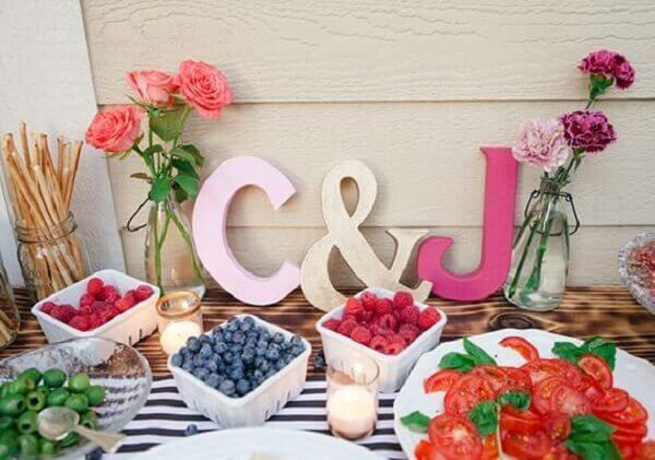 Engagement decoration letters