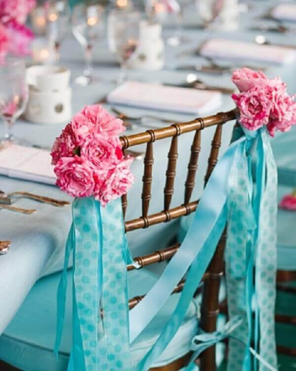 Engagement decoration chair decorations
