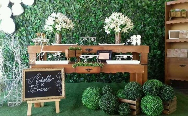 Engagement decoration plants