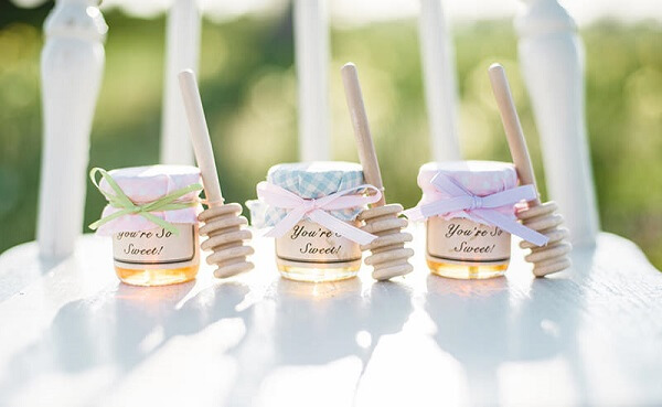 Engagement decoration honey pots
