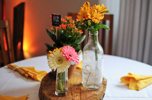 Simple engagement decoration