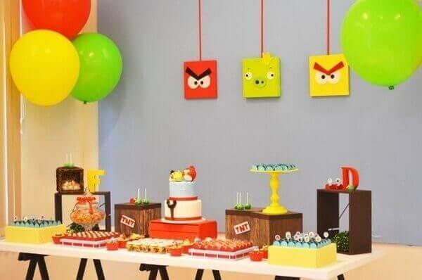Decoração dia das crianças Angry Birds
