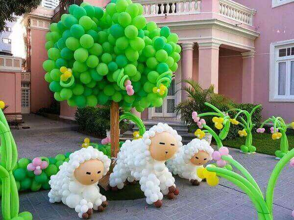 Decoração dia das crianças com balões
