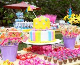 Decoração dia das crianças com bolo