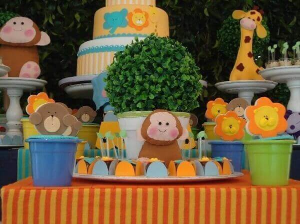 Decoração dia das crianças zoológico