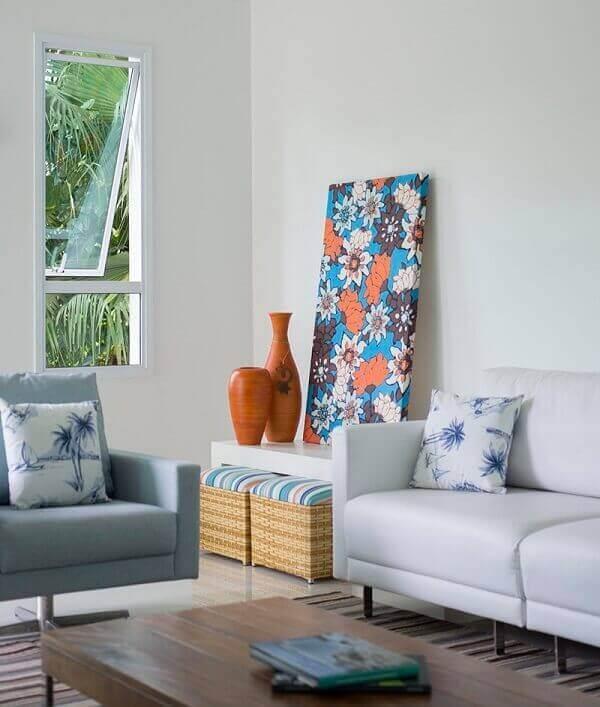 Decoração floral quadro