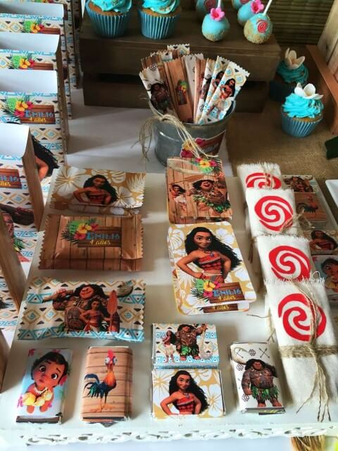 Festa Moana com lembrancinhas com os personagens Foto de Catch My Party