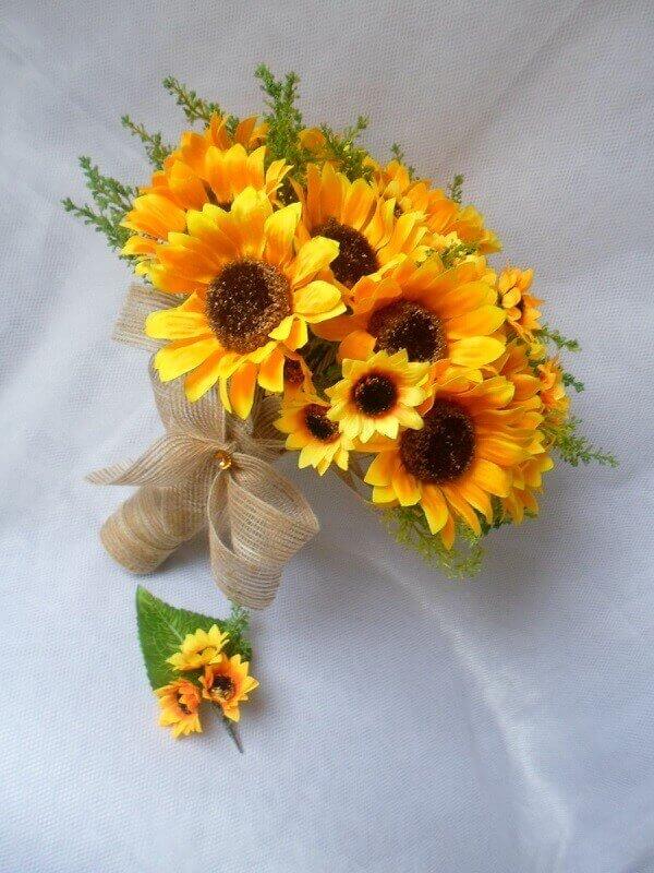 Flores lindas buquê de girassol