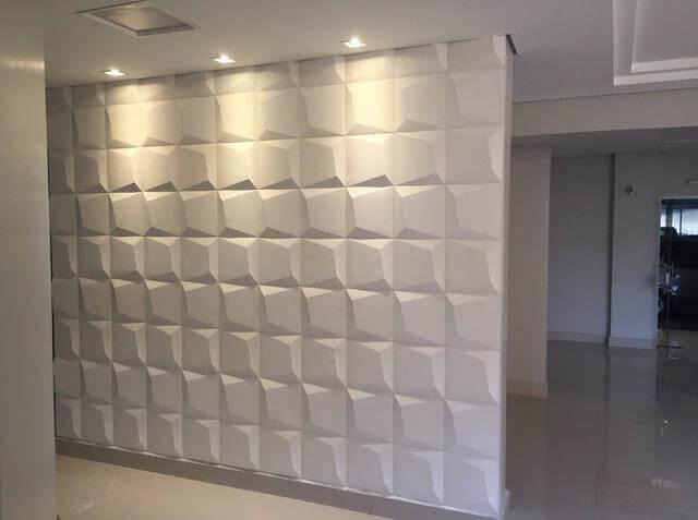 Gesso 3D em parede de corredor Foto de OLX