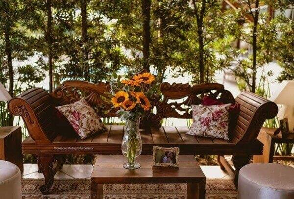 Girassol na varanda