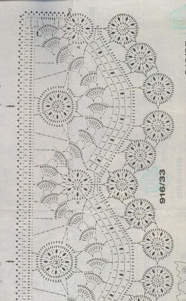 Gráfico de bico de crochê elaborado Foto de Essas e Outras
