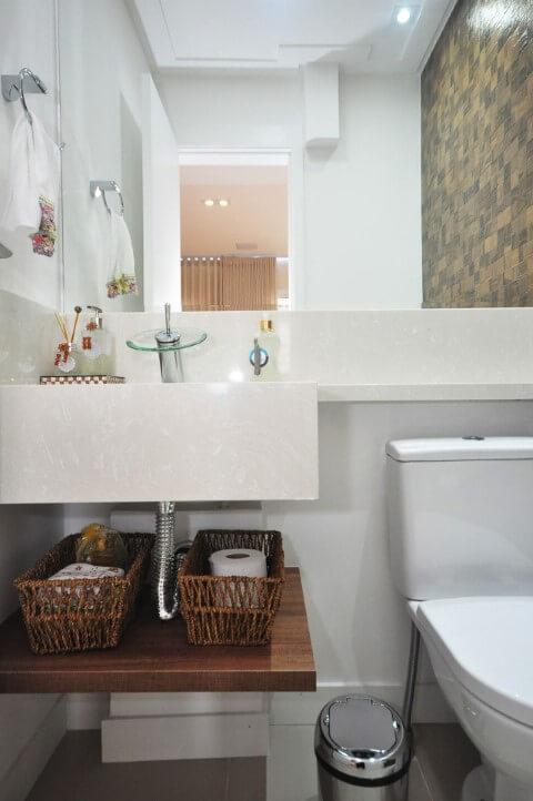 Lavabo com cuba de granito suspensa Projeto de Condecorar