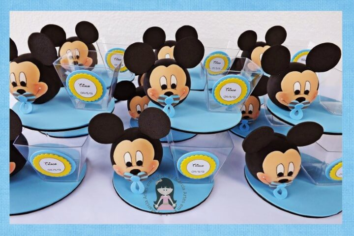 Lembrancinhas do Mickey baby com bico Foto de Márcia Artes em EVA