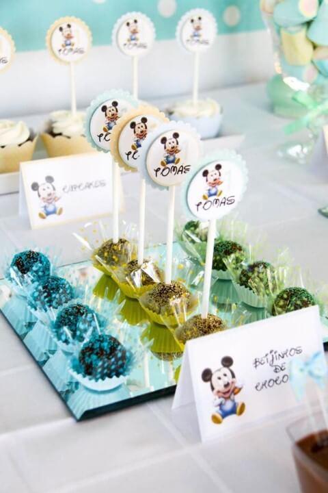 Lembrancinhas do Mickey baby de docinhos Foto de Pinterest