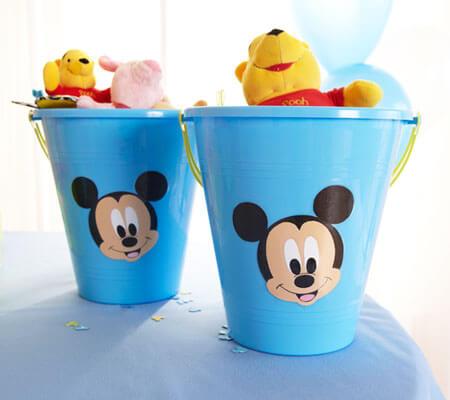 Lembrancinhas do Mickey baby em balde Foto de Disney Baby
