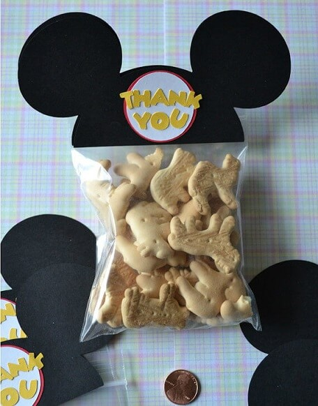 Lembrancinhas do Mickey com biscoitinhos Foto de Disney Every Day