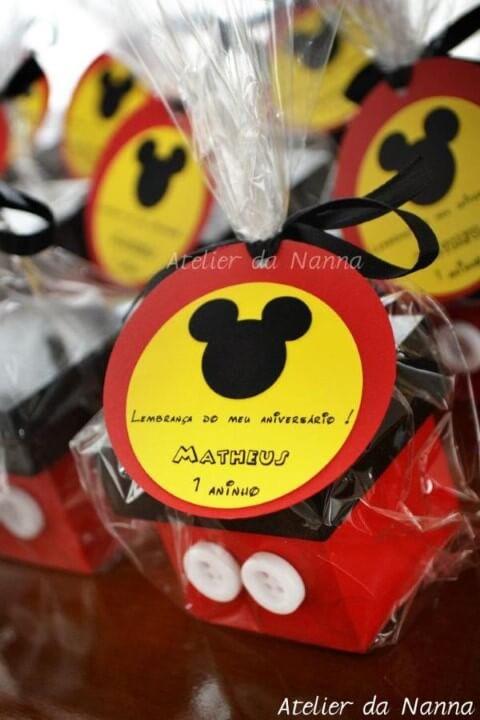 Lembrancinhas do Mickey com caixinha Foto de Atelier da Nanna