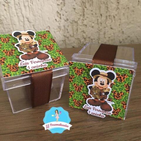 Lembrancinhas do Mickey com caixinhas de acrílico Foto de Elo7