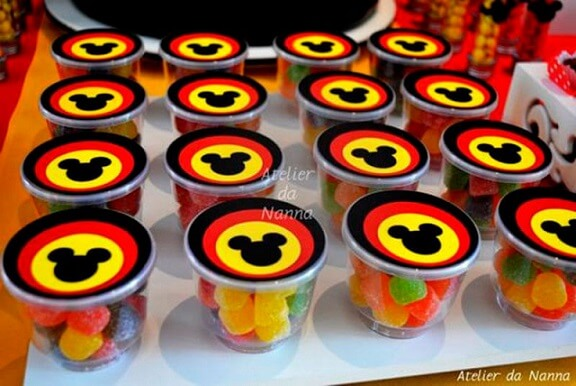 Lembrancinhas do Mickey com jujubas Foto de Atelier da Nanna