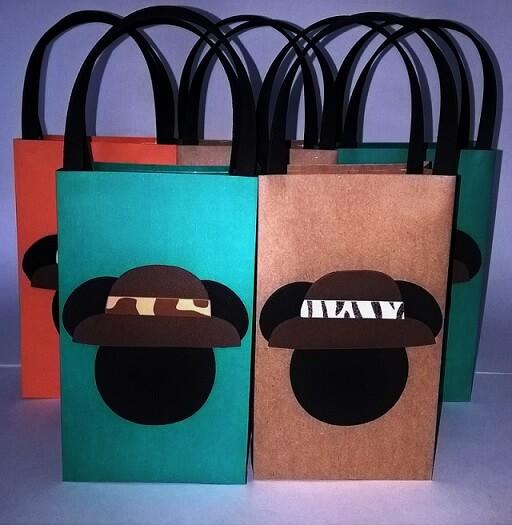 Lembrancinhas do Mickey com sacolinhas coloridas Foto de Artesanato Passo a Passo Já