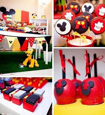 Lembrancinhas do Mickey diversas em festa Foto de Creative Cake Factory