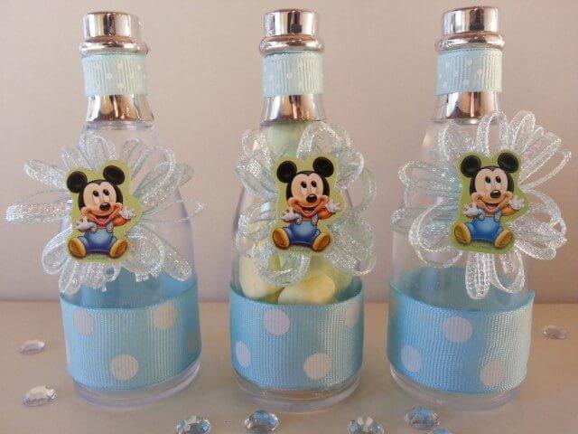 Lembrancinhas do Mickey em potinho azul Foto de eBay