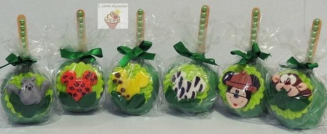 Lembrancinhas do Mickey safari com maçãs verdes Foto de Doceria L com Açúcar