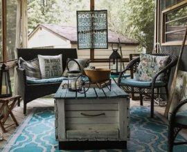 O estilo Boho se encaixa perfeitamente na decoração de casa de praia Foto de Shopify