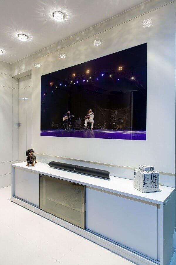 Painel para quarto com tv embutida