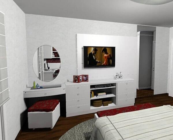 Painel para quarto de casal pequeno