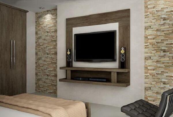 Painel para quarto de casal rústico
