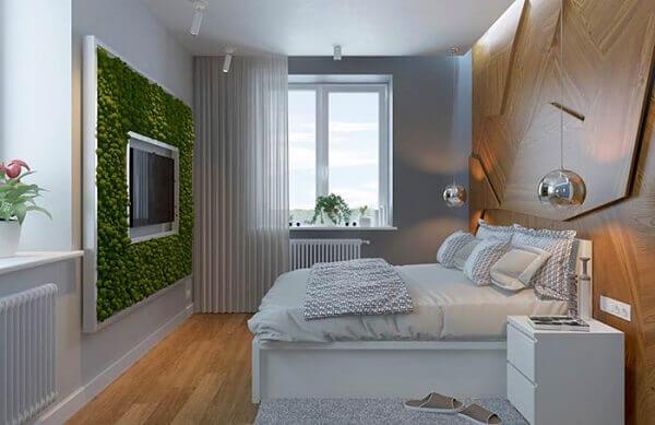 Painel para quarto detalhes verde