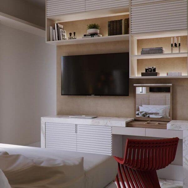 Painel para quarto em espaços pequenos