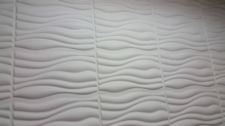 Parede com gesso 3D de ondulações Foto de Elo7