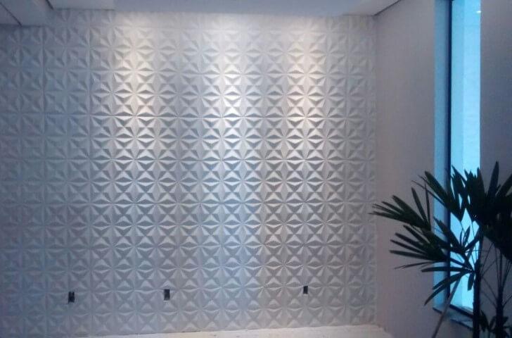 Parede de gesso 3D branca Projeto de XMoldes