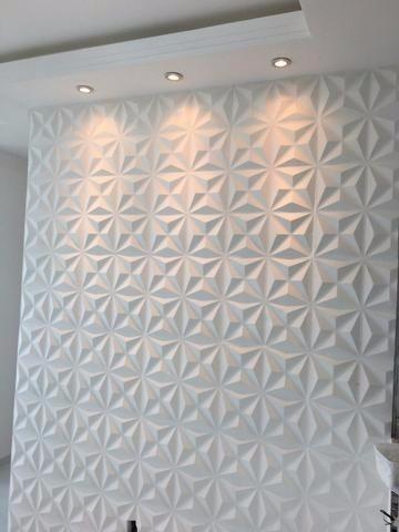 Parede de sala com gesso 3D e spots em sanca Foto de OLX