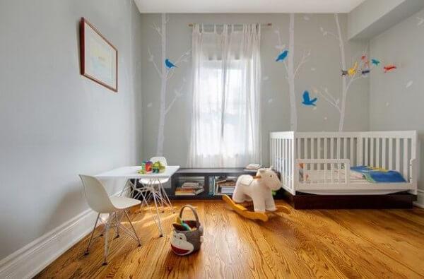 Piso laminado em quarto de criança
