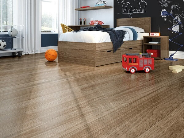 Piso laminado para quarto de criança