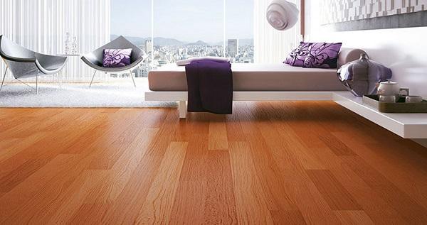 Piso laminado que imita madeira