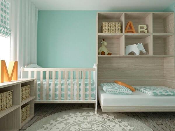 Quarto de criança com cores claras