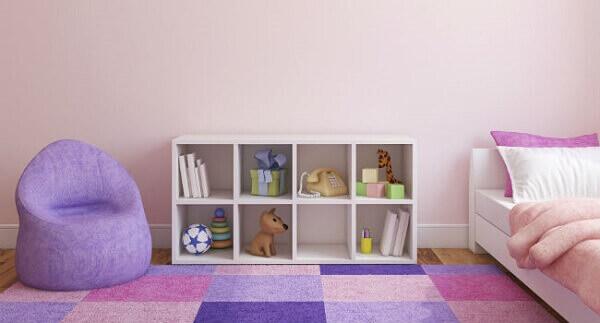 Quarto de criança com nichos