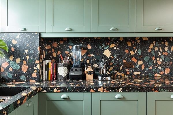 Revestimento para cozinha com granilite