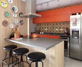 Revestimento para cozinha com ladrilhos hidráulicos