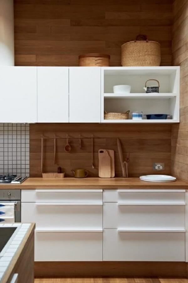 Revestimento para cozinha com madeira