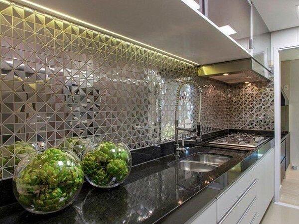 Revestimento para cozinha espelhado