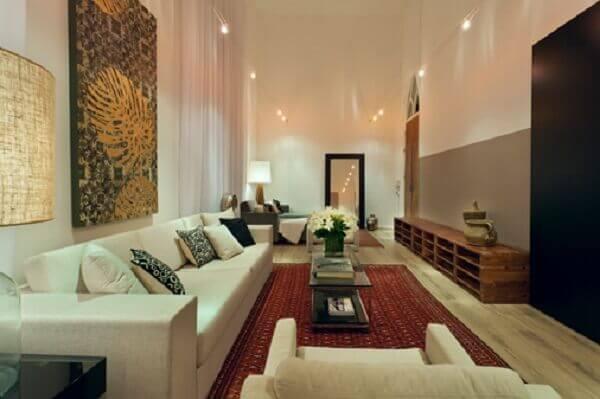 Tapete persa é o destaque na decoração