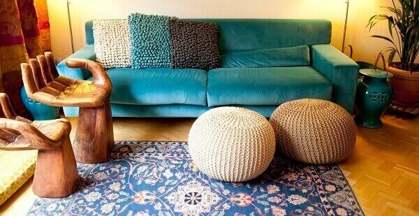 Tapete persa azul