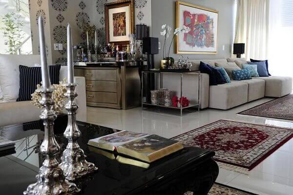 Tapete persa em decoração chic