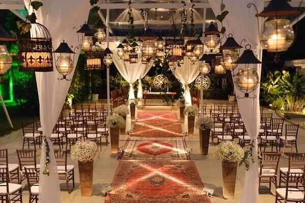 Tapete persa na decoração de eventos e casamentos