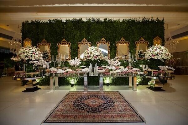 Tapete persa na decoração de festas